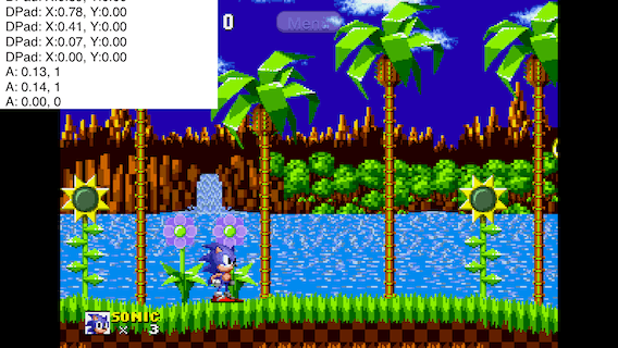 Sonic The Hedgehog running in Provenance with improvised debugging enabled